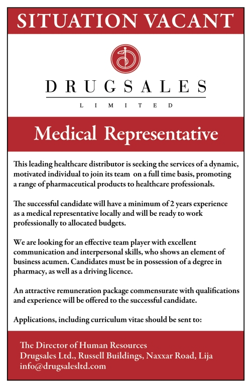 DRUGSALES LTD SITUATION VACANT (1)