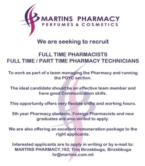 martins vacancy may17