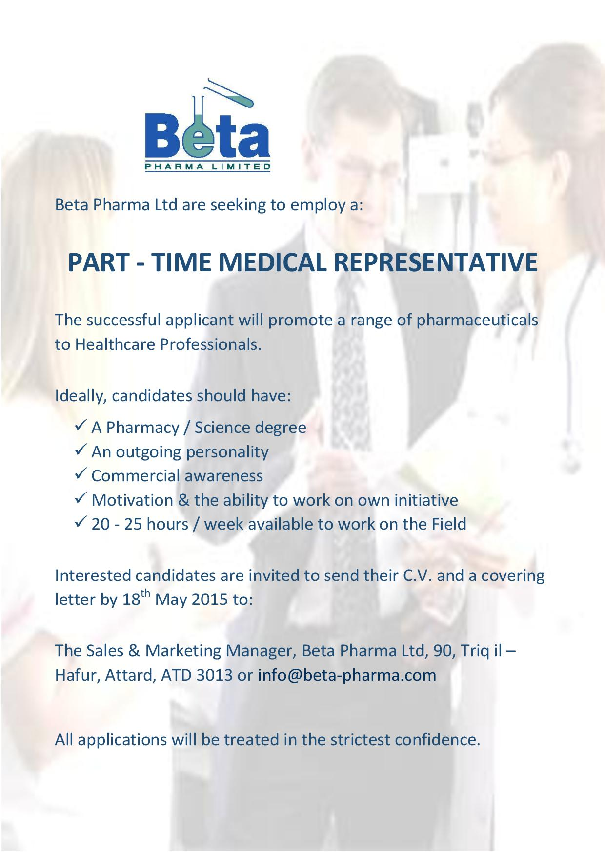 job opportunities part time medical rep vacancy page 001 1