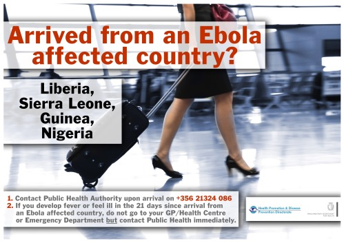 Ebola Arrival Poster 2014